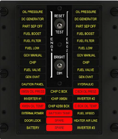 Master Caution Panel for Bell 212 and 412