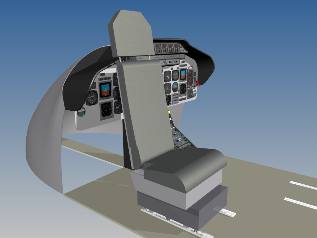 Bell 222/230 medical seat