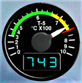 S-61 turbine inlet temperature gauge